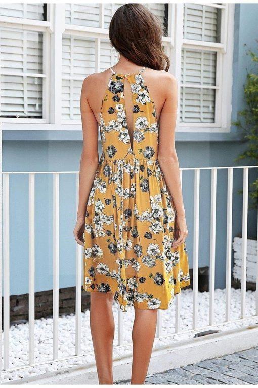 Florales Kleid im Hippie Chic
